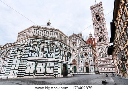 Churches On Piazza San Giovanni In Morning