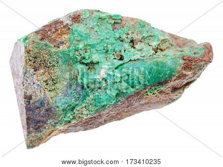 Stone Of Green Garnierite Rock (nickel Ore)
