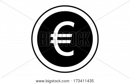 Pictogram - Euro Coin Change Exchange Money - Object Icon Symbol