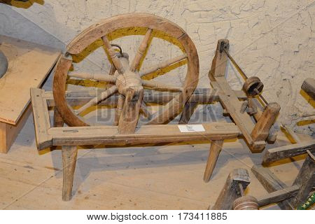 Museum of the fortiefied medieval saxon church in Viscri, Transylvania, Romania.