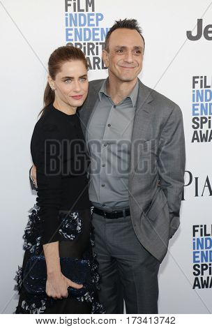 Hank Azaria and Amanda Peet at the 2017 Film Independent Spirit Awards held at the Santa Monica Pier in Santa Monica, USA on February 25, 2017.