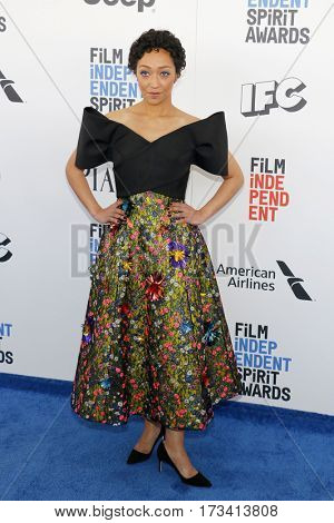 Ruth Negga at the 2017 Film Independent Spirit Awards held at the Santa Monica Pier in Santa Monica, USA on February 25, 2017.