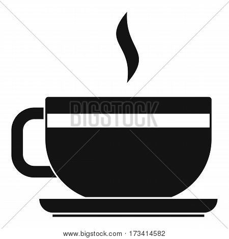 Tea cup and saucer icon. Simple illustration of tea cup and saucer vector icon for web