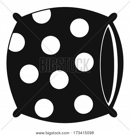 Pillow with dots icon. Simple illustration of pillow with dots vector icon for web