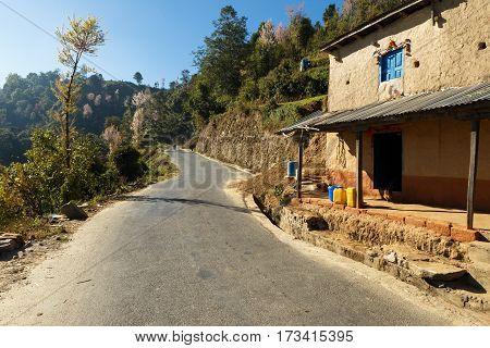 house on the road to Thrangu Tashi Yangtse Monastery - Namo Buddha Nepal