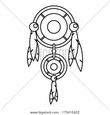 Dreamcatcher icon. Outline illustration of dreamcatcher vector icon for web