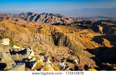 Usa Southwest Desert Landscape During Sunset