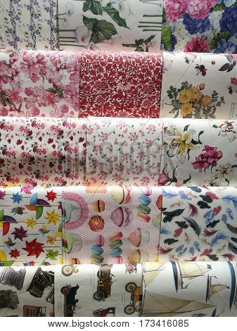 Celebration the boxing day with 15 variety colorful collection gift wrapping paper from top to bottom