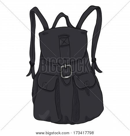 Vector Single Female Casual Backpack