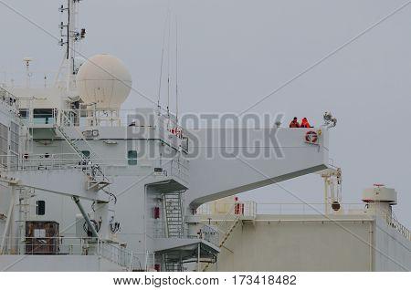 LNG TANKER - Captain's bridge on a ship