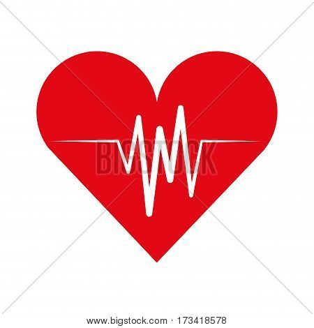 cardiology pulse isolated icon vector illustration design