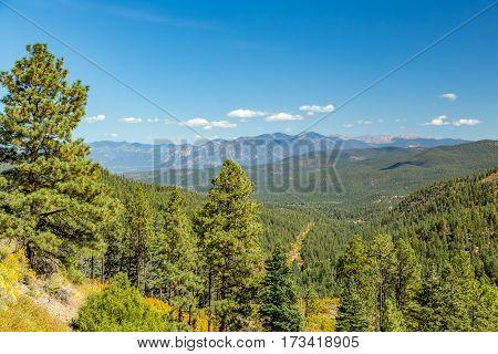 A View of Maestas Ridge in the Sangre de Cristo Mountains along State Highway 76.