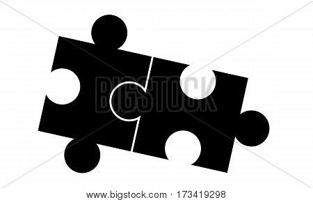 Pictogram - Puzzle Piece in the puzzle Jigsaw - Object Icon Symbol