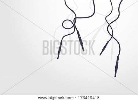 Audio cables connector symbol on the white background