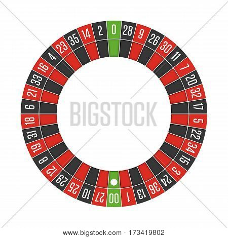 American casino roulette wheel. Gambling games concept. Vector illustration. EPS 10