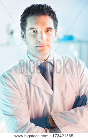 Portrait of a confident male health care professional in his working environment.