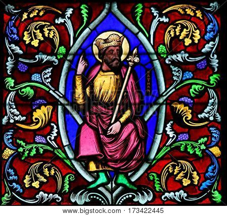 Stained Glass Depicting The Prophet Nathan
