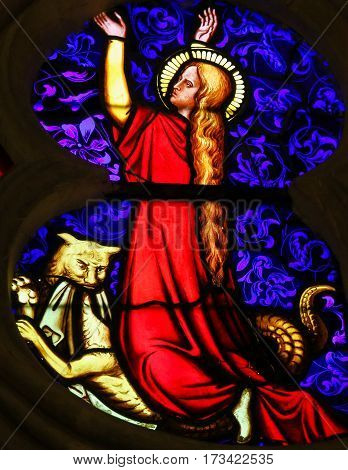 Stained Glass - Catholic Saint