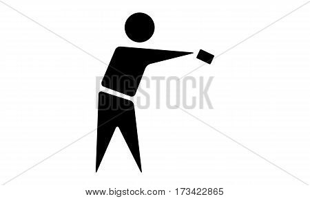 Pictogram - Card Return Handover Transfer Handing over Restitution Post Delivery Disposal Release - Object, Icon, Symbol