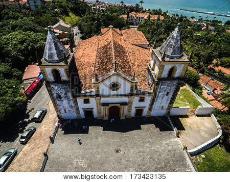 Aerial View Se Cathedral in Olinda, Recife, Brazil