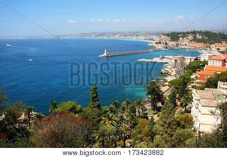 Beautiful Bay Of Nice At Cote D'azur, France