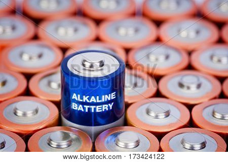 AA aa Battery Closeup on white Background