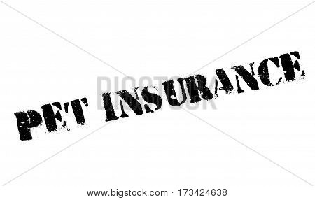 Pet Insurance rubber stamp. Grunge design with dust scratches. Effects can be easily removed for a clean, crisp look. Color is easily changed.