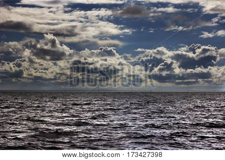Piqturesque storm over the gulf of Finland in Saint-Petersburg