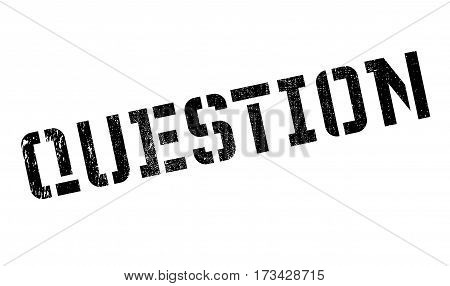 Question rubber stamp. Grunge design with dust scratches. Effects can be easily removed for a clean, crisp look. Color is easily changed.