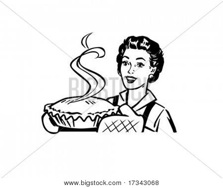 Fresh Baked Pie - Housewife With Dessert