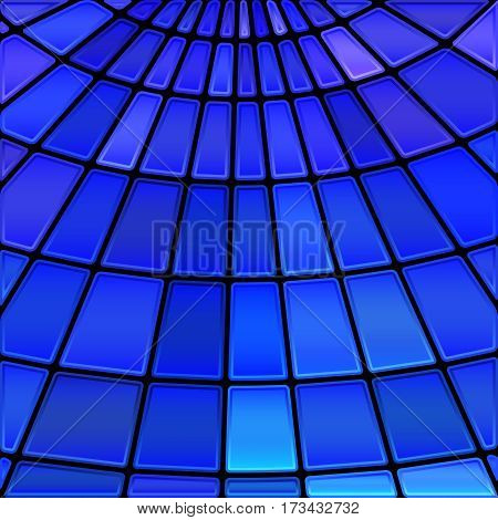 abstract vector stained-glass mosaic background - bright blue