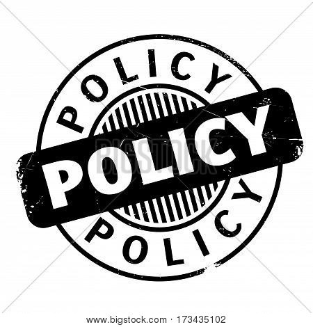 Policy rubber stamp. Grunge design with dust scratches. Effects can be easily removed for a clean, crisp look. Color is easily changed.