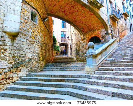 Old town of Pals in Girona, Catalonia at Spain. poster