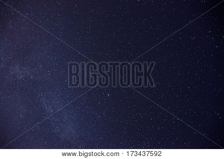 Black Night Sky Plenty Of Stars With