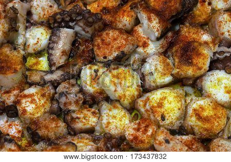 octopus galician style pulpo a la gallega spanish tapas dish