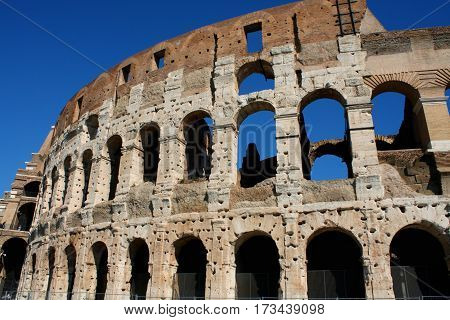Arena - Coloseum in Rome Italy .