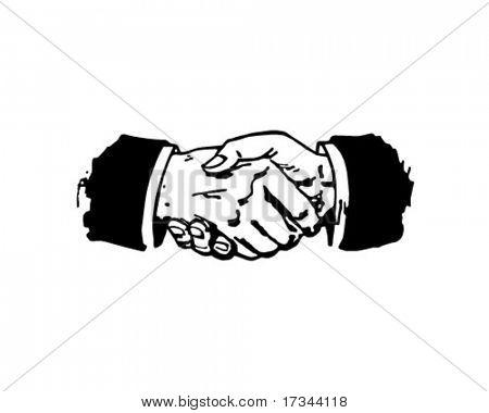 Handshake - Retro Clip Art