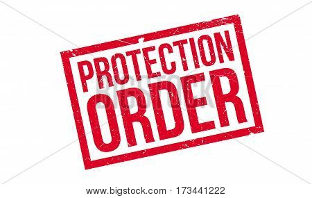 Protection Order rubber stamp. Grunge design with dust scratches. Effects can be easily removed for a clean, crisp look. Color is easily changed.