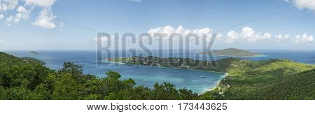 The amazing Magens Bay Beach Park in St. Thomas US Virgin Islands