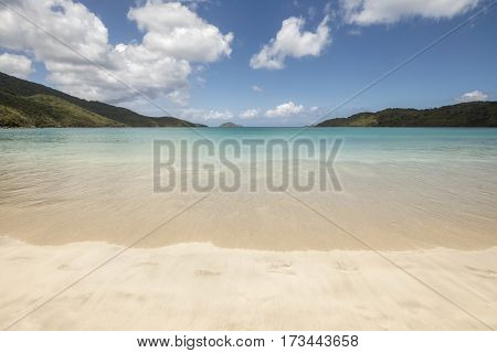 The amazing Magens Bay Beach in St. Thomas US Virgin Islands in the Caribbean sea