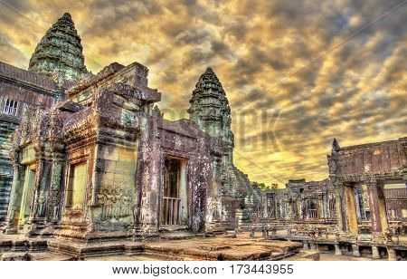 Bakan, the central sanctuary of Angkor Wat - Siem reap, Cambodia. UNESCO world heritage site