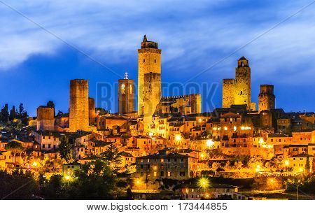 San Gimignano is a small walled medieval hill town in the province of Siena, Tuscany, north-central Italy