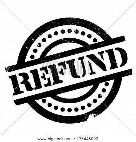 Refund rubber stamp. Grunge design with dust scratches. Effects can be easily removed for a clean, crisp look. Color is easily changed.