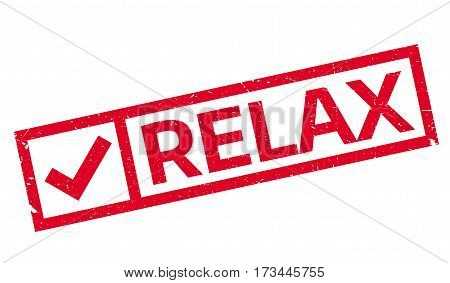 Relax rubber stamp. Grunge design with dust scratches. Effects can be easily removed for a clean, crisp look. Color is easily changed.
