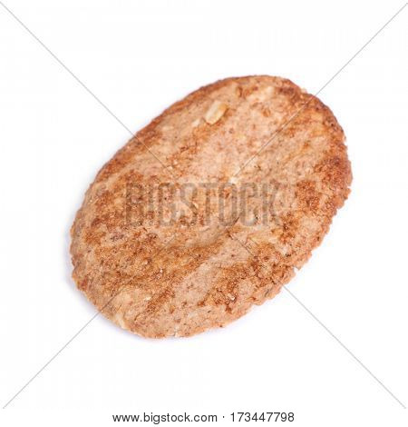 Cookie with cereals isolated on white