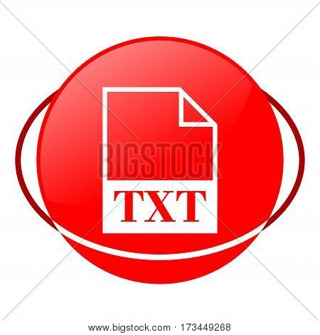 Red icon, txt file vector illustration on white background
