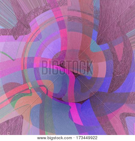 abstract curved bands, grunge background on the paper with some stains