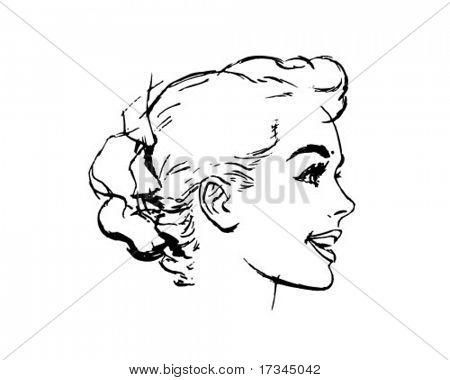 Womans Bun Hairstyle Vector Photo Free Trial Bigstock