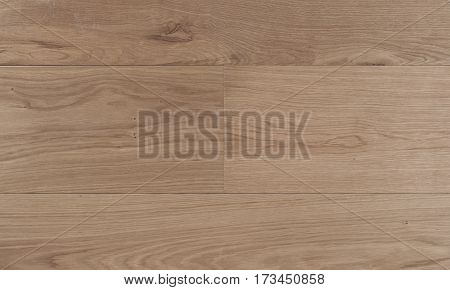 Top view photo of rustic natural oiled Italian oak wood floor boards with rough texture