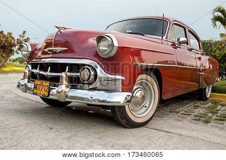 HAVANA, CUBA July 09, 2006 - 1953 Vintage Chevrolet Bel Air DeLuxe, in Havana. It is believed that 60,000 US cars from pre-embargo age are still in use in Cuba.